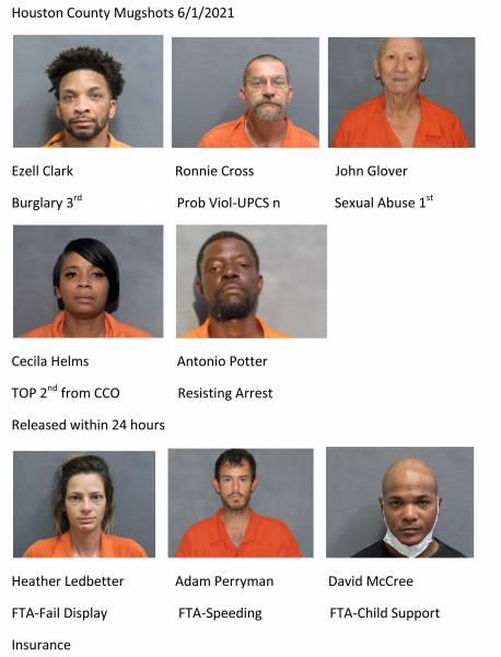 Houston County  /Dothan City Mugshots 6/1/2021