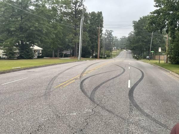 Denton Road Crash - Showing Off Became Embarrased