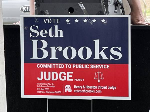 Seth Brooks - First To Toss Hat In Ring For Circuit Court Judge - Henry and Houston County