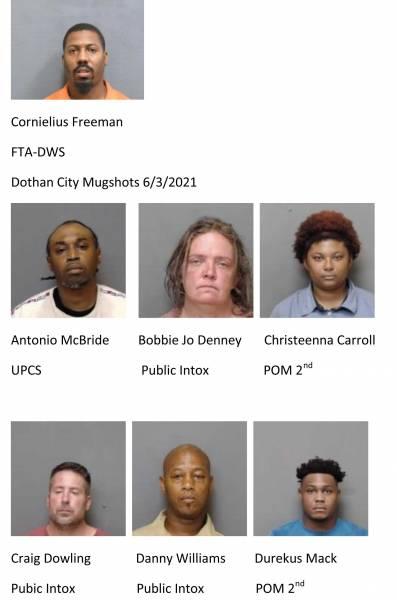 Houston County/Dothan City Mugshots 6/3/2021