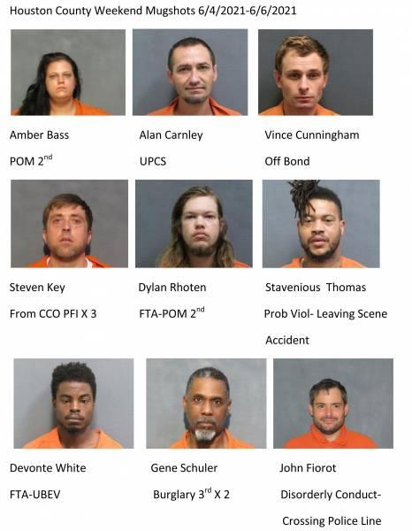 Houston County Weekend Mugshots 6/4/2021-6/6/2021