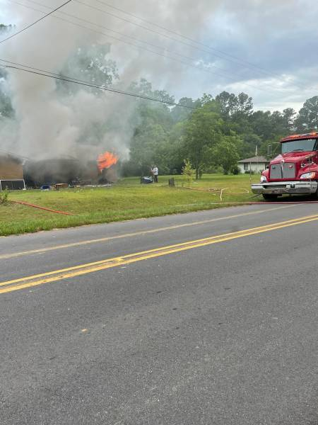 6:02 PM  Major Structure Fire On Lucy Grade Road