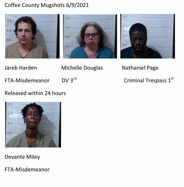 Dale County/Coffee County Mugshots 6/9/2021