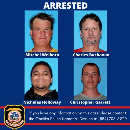 Opelike Police/Lee County Make Arrest During Warrant Search