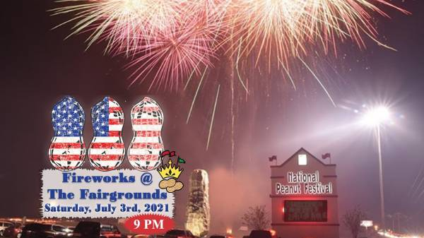 Fireworks at the Fairgrounds Set for July 3rd