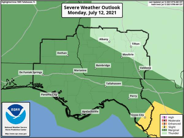 Risk of Severe Storms Across Portions of the Today
