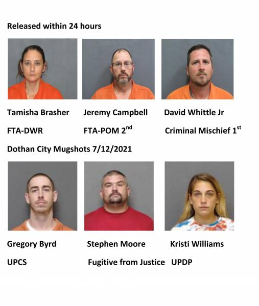 Houston County/Dothan City Mugshots 7/12/2021