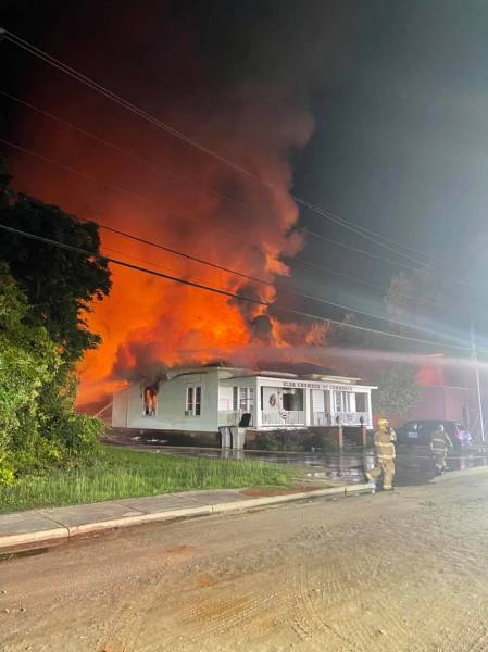 Structure Fire at Elba Chamber of Commerce last Night