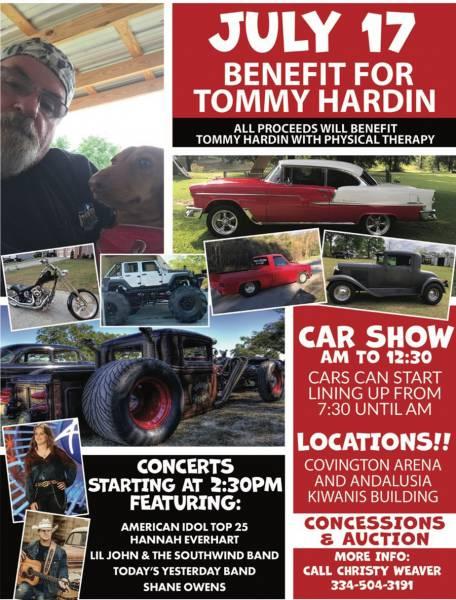 Benifit for Tommy Hardin Set for July 17th