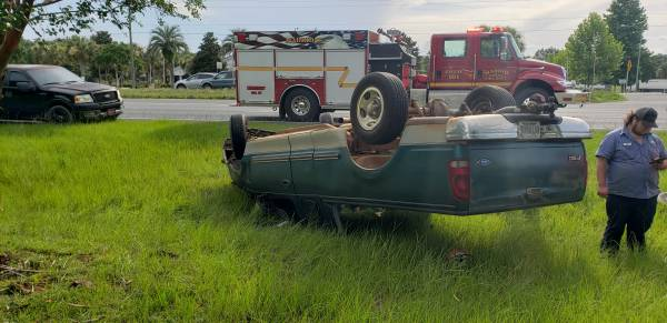 4:50 PM.. Vehicle Overturned on US 231 Just Across the Florida Line