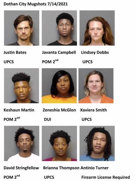 Houston County/Dothan City Mugshots 7/14/2021