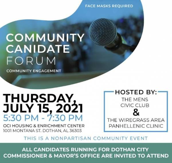 A Forum for Candidates for the City of Dothan Mayor and City Commissioner Positions will be held tonight at the former Montana Magnet School