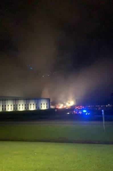 10:24 PM.   FIRE - Abbeville - At Abbeville Fiber