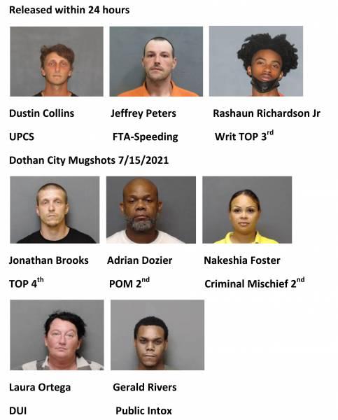 Houston County/Dothan City Mugshots 7/15/2021