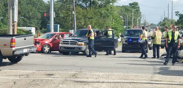 4:47 PM... Three Vehicle Accident at West Main and South Alice
