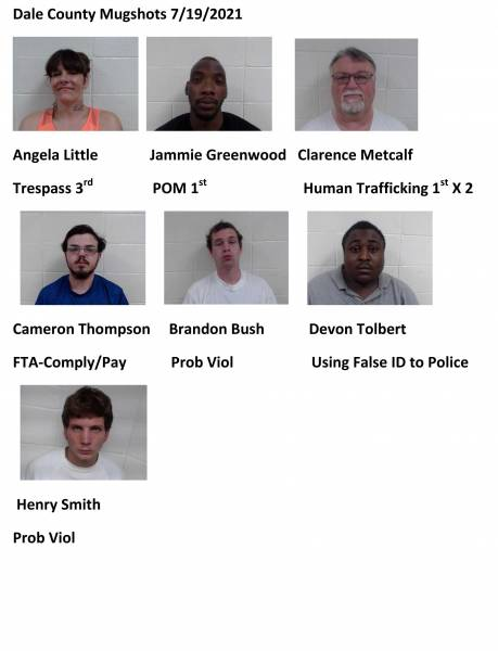 Dale Coutny/Coffee County Mugshots 7/19/2021