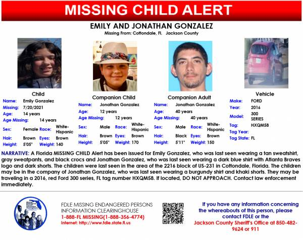 Be on the look out for these children last seen in Cottondale!