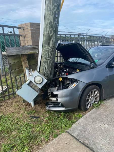 Okaloosa County Sheriff's on Scene at a Single Vehicle Crash
