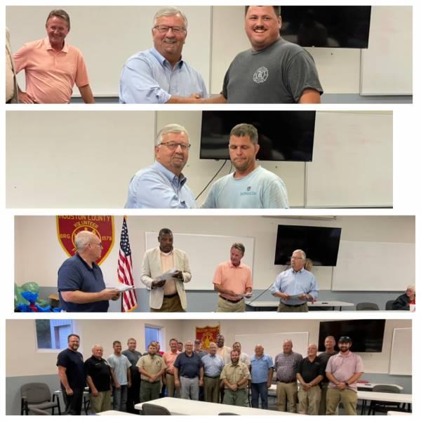 Local Legislative Delegation Visits Volunteer Fire Chief Association