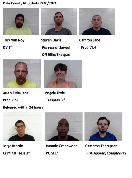 Dale County Mugshots 7/20/2021