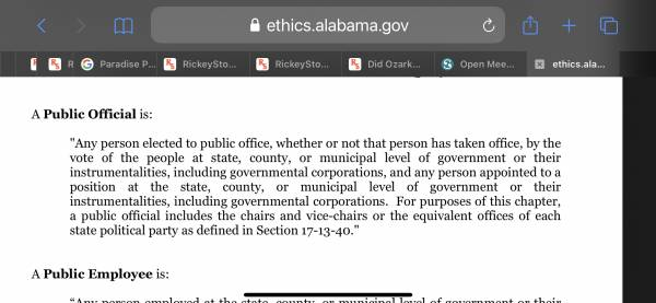 Did Ozark Mayor and City Council Violate Alabama Law
