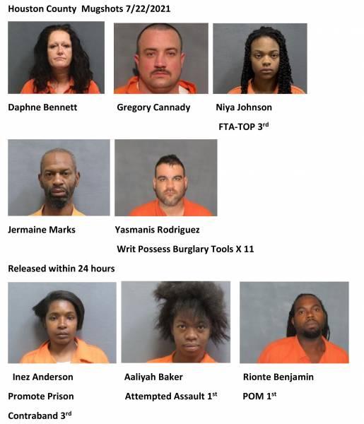 Houston County/ Dothan City Mugshots 7/22/2021