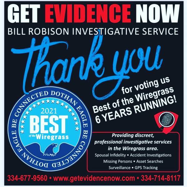 Thank You From Bill Robison Investigations