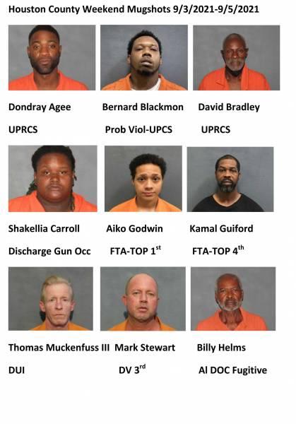 Houston County Weekend Mugshots 9/3/2021-9/5/2021
