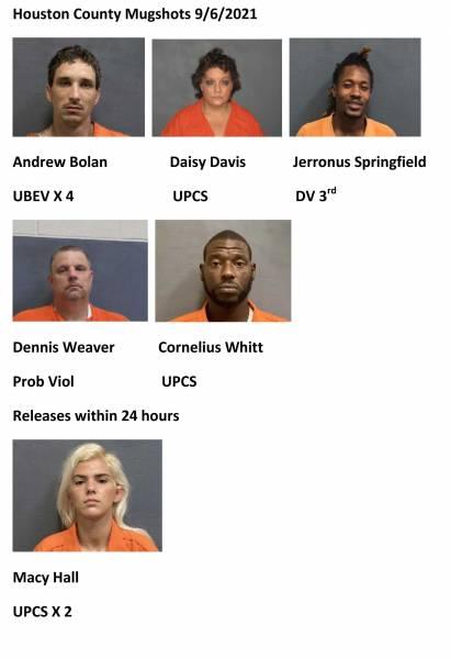 Houston County Mugshots 9/6/2021