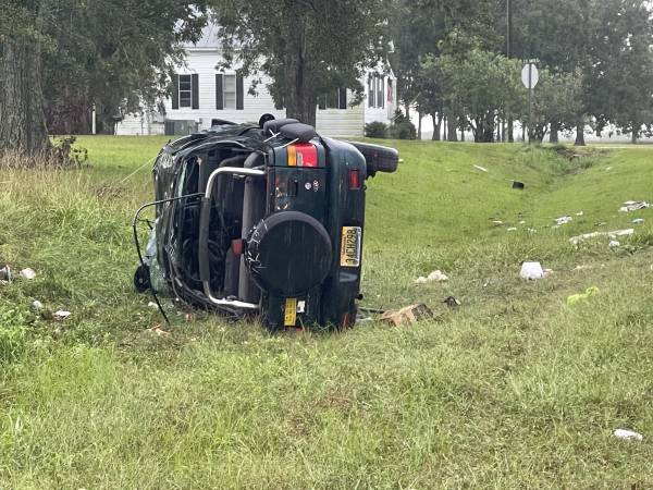 08:30 AM  Overturned North County Road 9 Geneva County