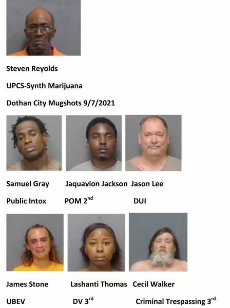 Houston County/Dothan City Mugshots 9/7/2021
