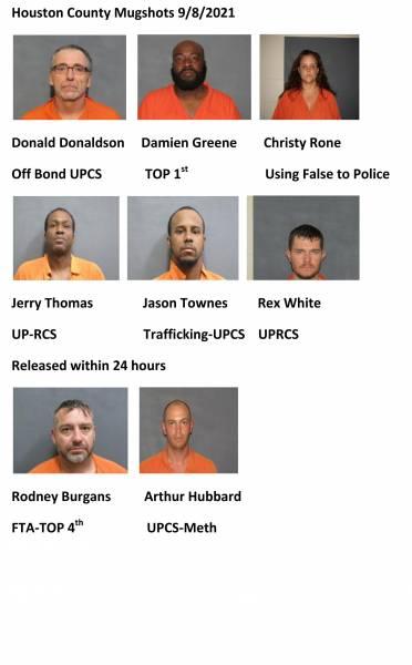 Houston County/Dothan City Mugshots 9/8/2021