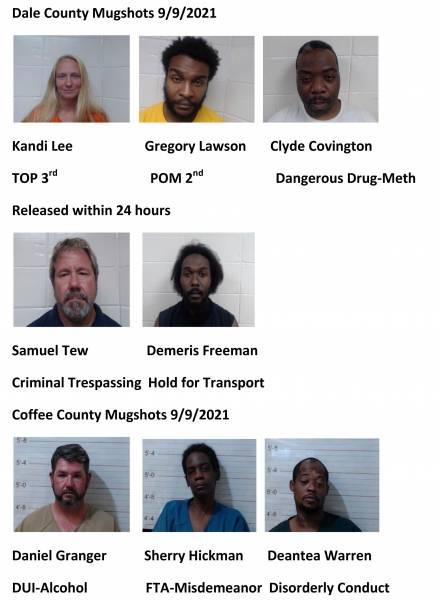 Dale  County/Coffee County Mugshots 9/9/2021