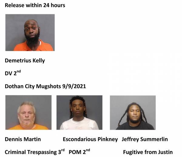 Houston County/Dothan City Mugshots 9/9/2021