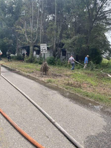Structure Fire in Hartford on North Shiloh Road
