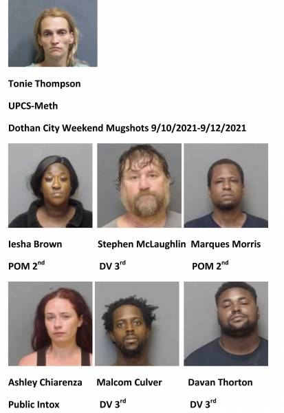 Houston County/Dothan City Weekend Mugshots 9/10/2021-9/12/2021