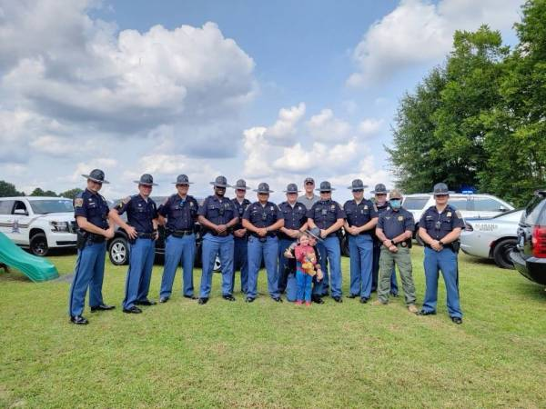 ALEN Troopers Joined Friends, Family and other Local Law Enforcement Officers to Celbrate one Very Special Birthday of a Special Young Man