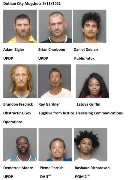 Houston County/Dothan City Mugshots 8/13/2021