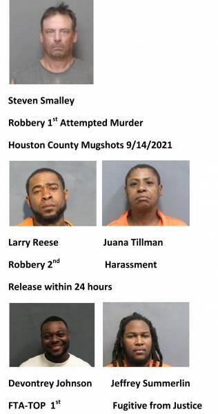 Dothan  City / Houston County Mugshots 9/14/2021