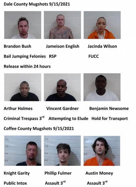 Dale  County/Coffee County Mugshots 9/15/2021