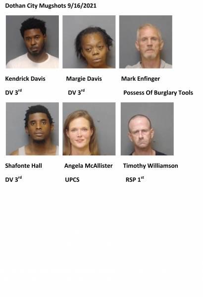 Dothan City /Houston County Mugshots 8/16/2021