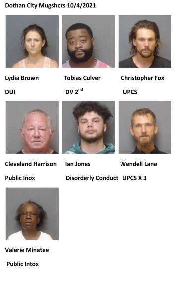 Dothan City/Houston County Mugshots 10/4/2021