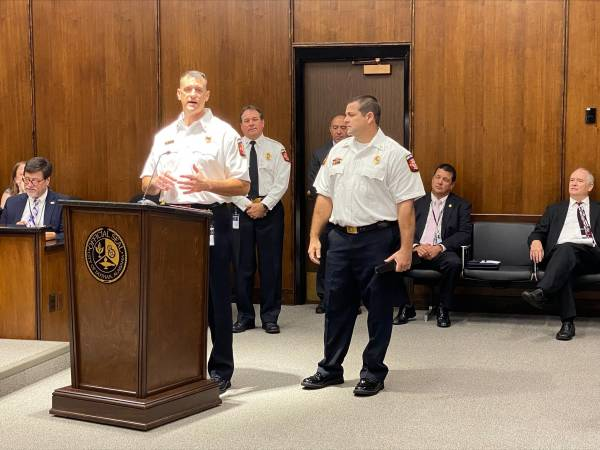 Dothan Fire Department Members Recognized Rewards today at the City Commission Meeting