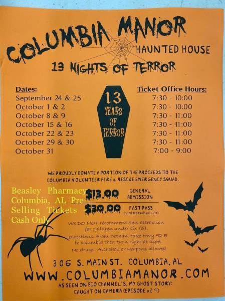 13 Night of Terror Columbia Manor Haunted House