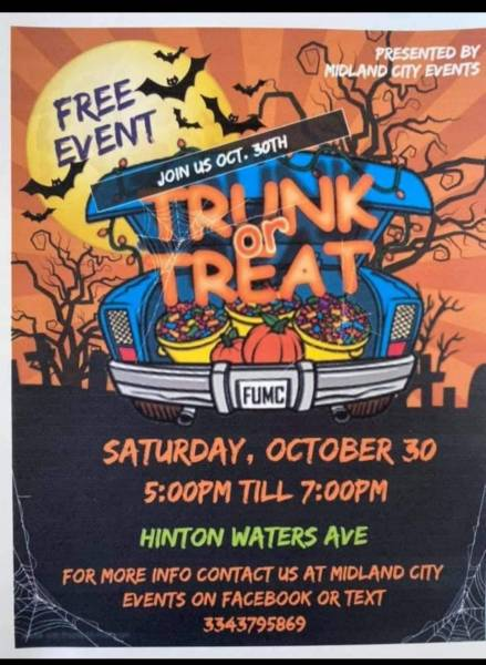 Midland City trunk of treat
