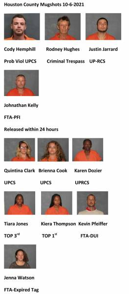 Houston County Mugshots 10-6-2021