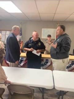 Tim and Johnnie Watson Make Generous Donation To Napier Field Police Department