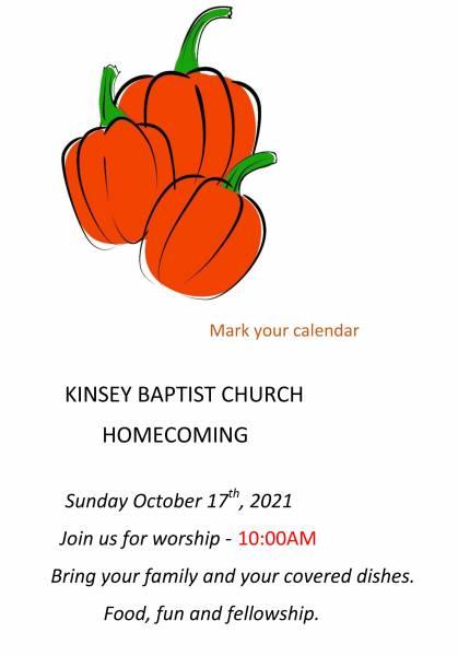 Kinsey Baptist Church Homecome