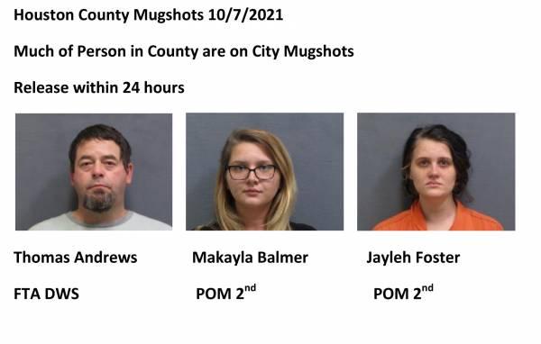 Houston County Mugshots 10/7/2021