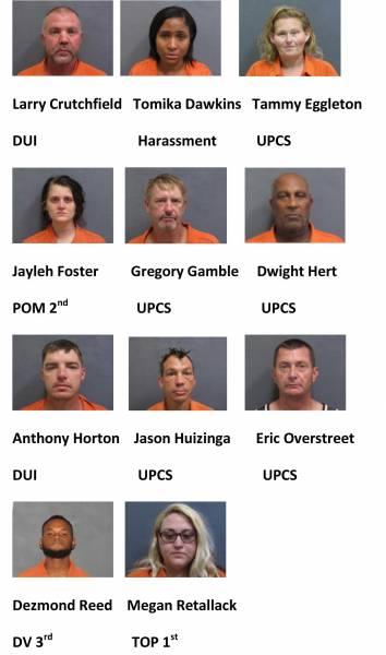 Houston County Weekend Mugshots 10/8/2021-10/10/2021